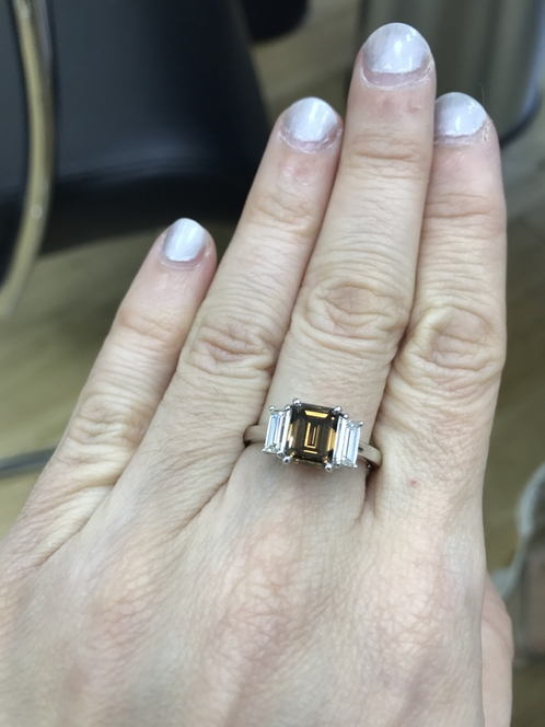 Wedding Wednesday: Brown Diamond for a Dude