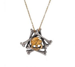 Gifts for Goths: Skull and Bones Necklace